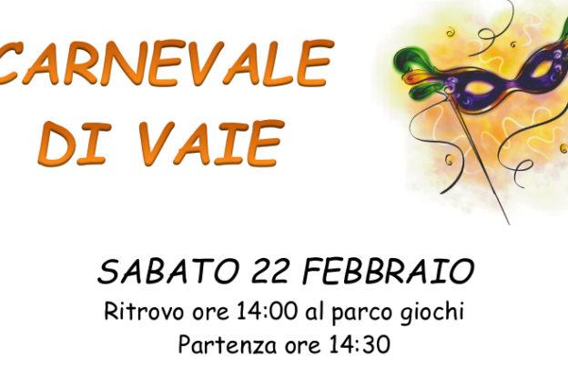 Torna il Carnevale a Vaie: appuntamento sabato 22 febbraio