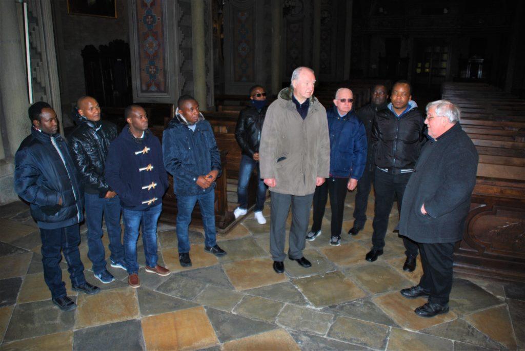 Sette giovani seminaristi africani in visita a Susa