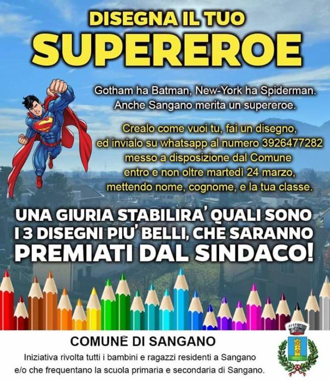 """""""Disegna il tuo supereroe per Sangano"""", un concorso a premi via social"""