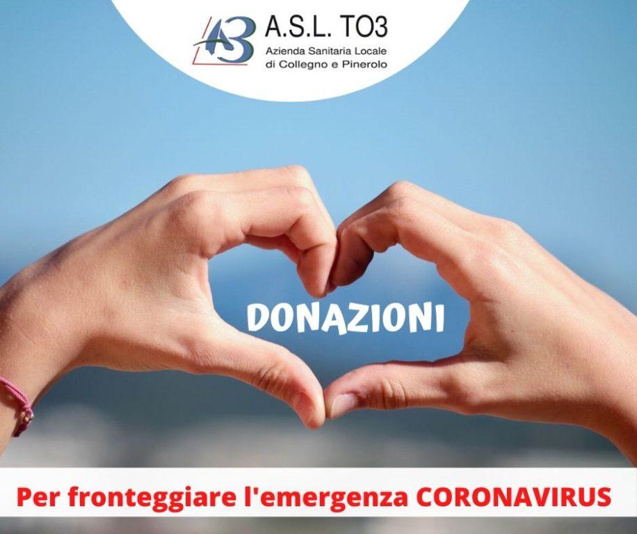 Emergenza Covid- 19: in due settimane l'Asl To3 ha raccolto donazioni per 159mila euro