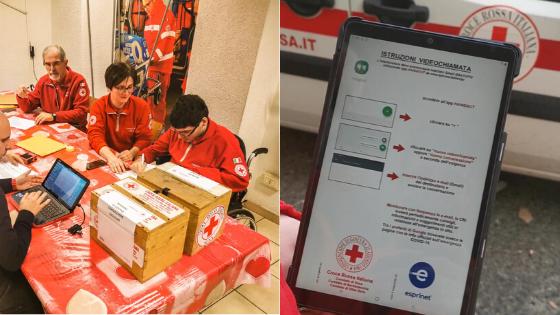 Dalla Croce Rossa dieci tablet alle strutture residenziali per mettere in contatto ospiti e famiglie