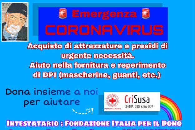 Coronavirus, 2500 euro per la Cri di Susa dal Fondo Don Piardi