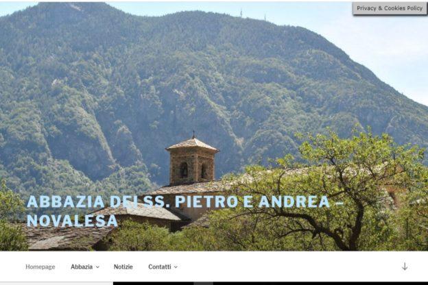Nuovo look per il sito internet dell'abbazia di Novalesa