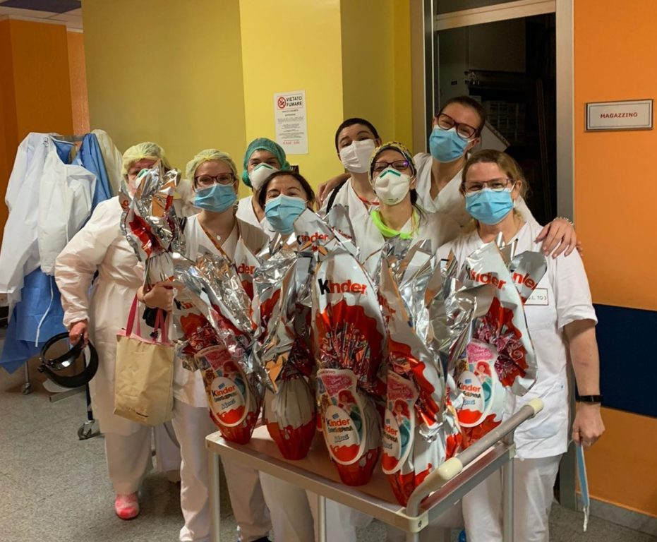 La Ferrero ha donato 3840 uova di Pasqua Kinder alle Asl piemontesi