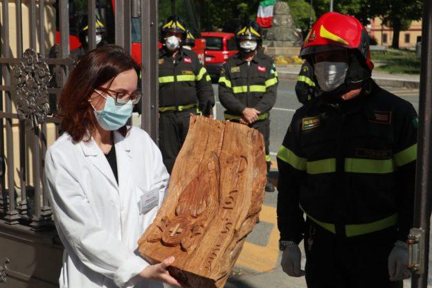 I vigili del fuoco ringraziano l'Ospedale di Susa e tutto il personale sanitario