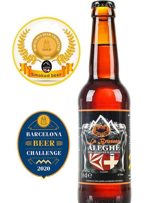 """Medaglia d'oro alla """"Brusatà"""" Aleghe al Barcelona Beer Challenge"""