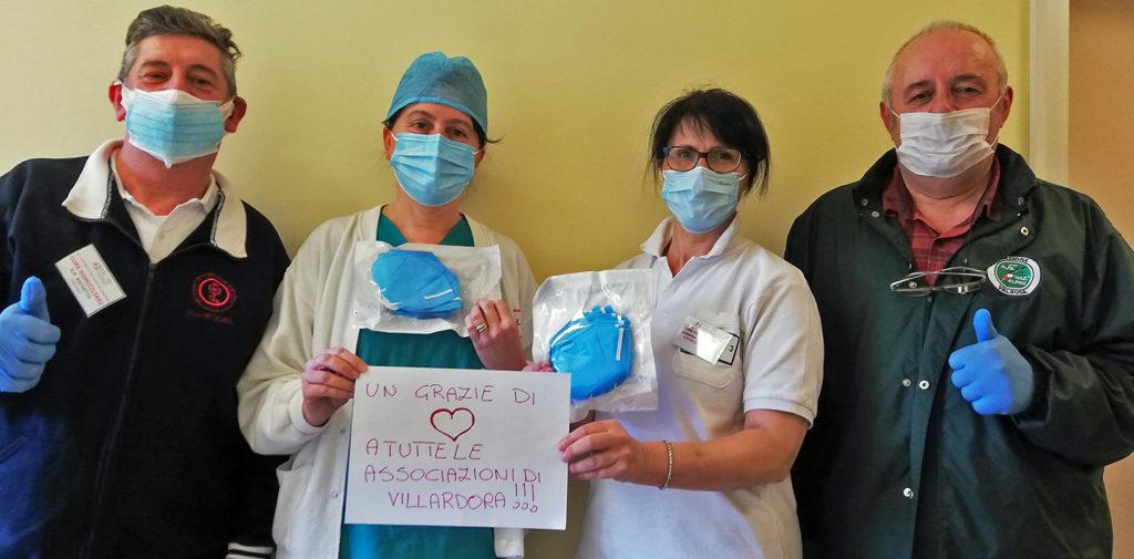 Da Villar Dora 300 mascherine FFP2 agli ospedali di Rivoli, Avigliana e Susa
