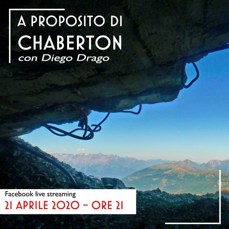 Diego Drago guida un'escursione virtuale sul Monte Chaberton