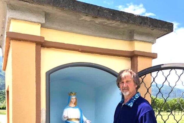 Bruzolo, la Madonnina e il pilone restaurati da Bruno Nurisso