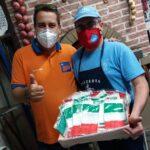 Alpignano, le mascherine tricolore dei commercianti