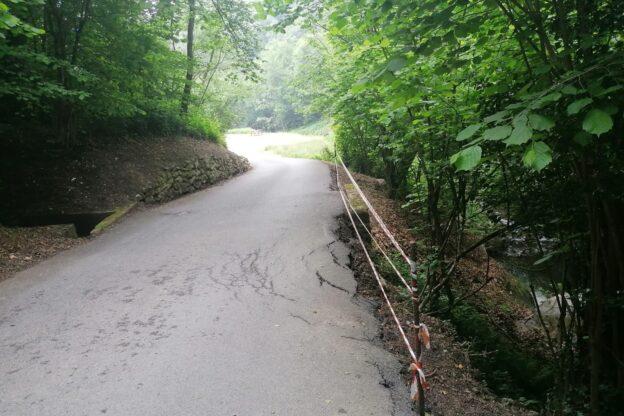 Valgioie, cede sempre di più un tratto di strada verso Ruata Gioana