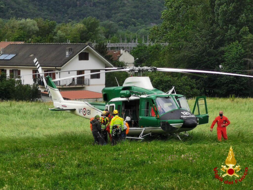 Quattro persone bloccate a monte di Bussoleno: recuperate dall'elicottero