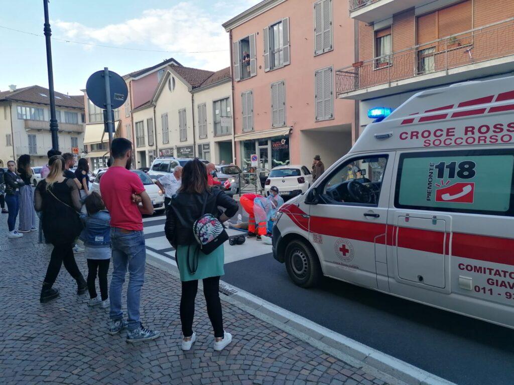 Giaveno, incidente in via Roma