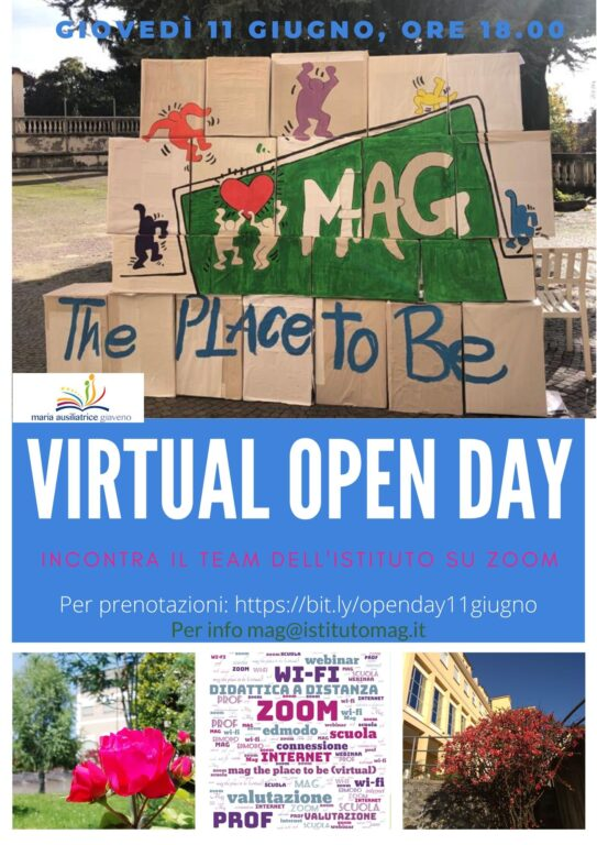 Open day virtuale all'Istituto Maria Ausiliatrice di Giaveno l'11 giugno