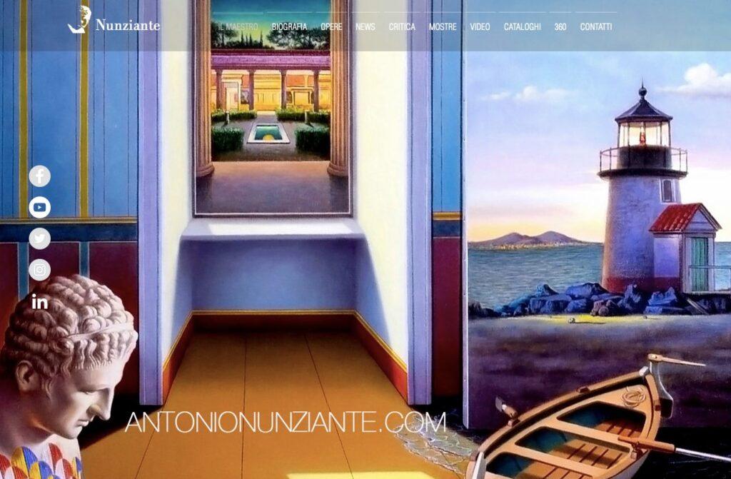 Il nuovo sito dell'artista giavenese Antonio Nunziante è online