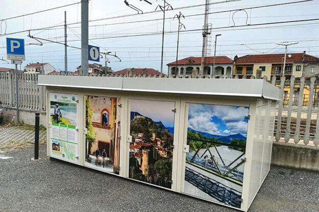 Avigliana, installati in zona stazione dodici box per le biciclette