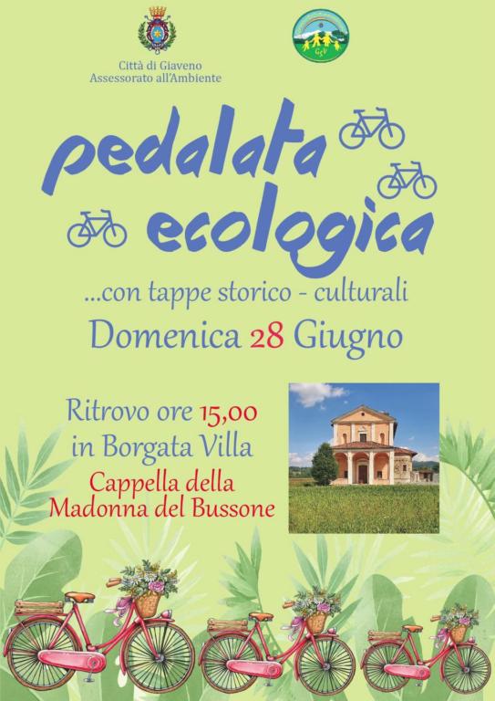 A Giaveno, domenica 28 giugno, la prima pedalata ecologica dell'estate