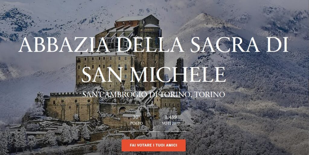 """Sacra di San Michele """"luogo del cuore"""". Votiamola !"""