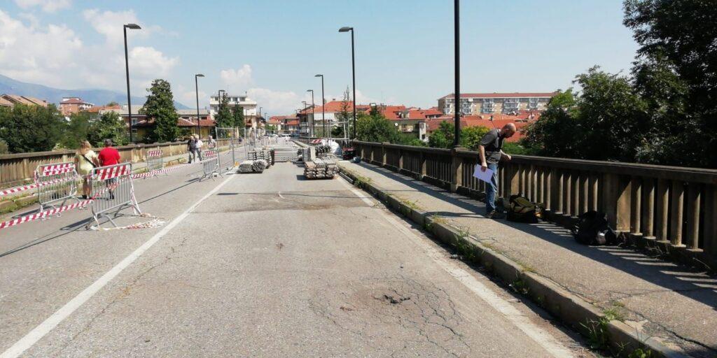 Alpignano, cominciati questa mattina i lavori sul Ponte Nuovo