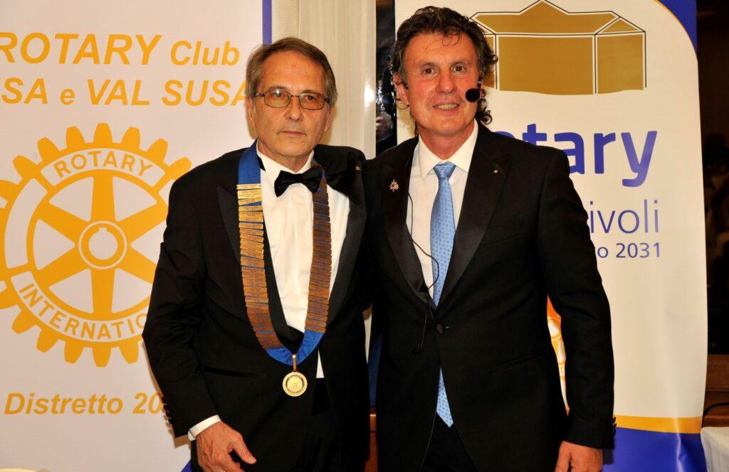 Rotary Club Susa e Val Susa, Bellone cede il testimone a Perazzini
