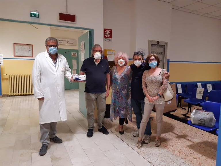 La Cgil ha regalato mille mascherine all'ospedale di Susa