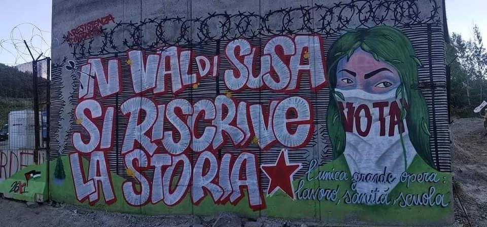 A Chiomonte un nuovo murales celebra la lotta dei No Tav