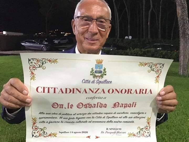 Il deputato giavenese Osvaldo Napoli è cittadino onorario di Squillace