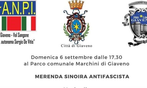 Giaveno, Merenda sinoira Antifascista domenica 6 settembre