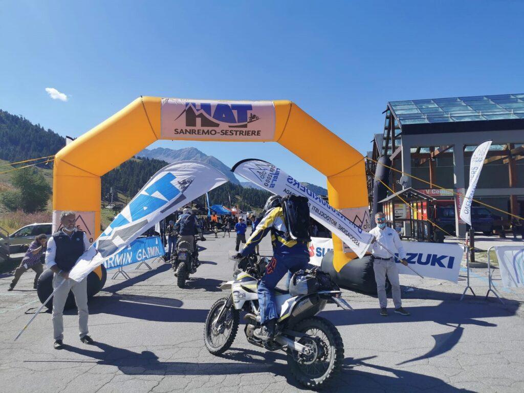 Motociclisti da tutta Europa al traguardo della HAT Sanremo-Sestriere