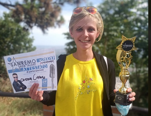 La bruzolese Cristina Cibrario vince tra i cantautori al Sanremo Newtalent  di Rimini