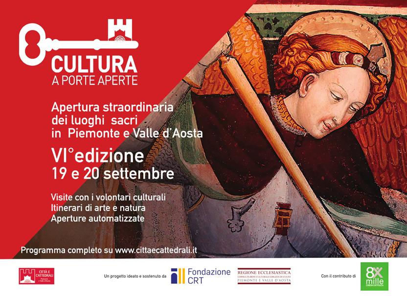 Apertura straordinaria dei luoghi sacri in Piemonte e Valle d'Aosta