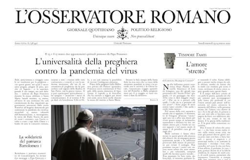 Da domenica 4 ottobre L'Osservatore Romano si rinnova