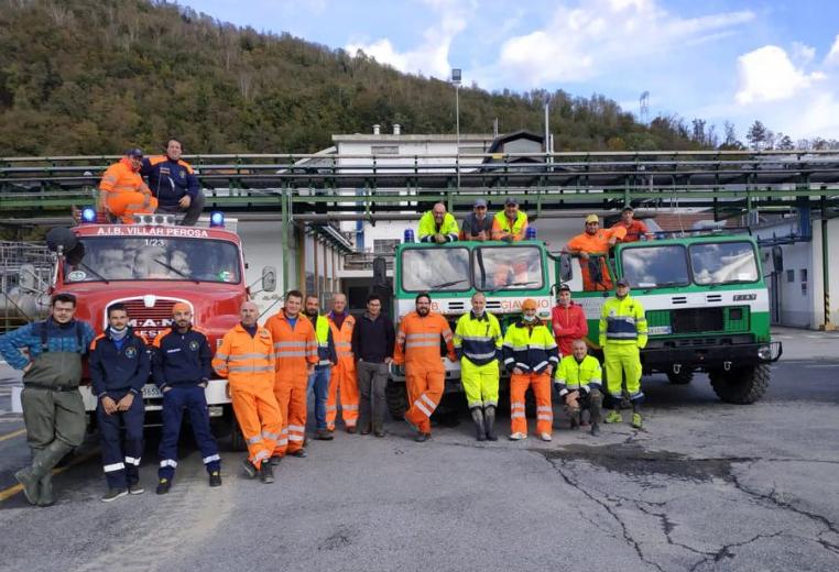 Alluvione in Val Tanaro: la pronta risposta degli Aib della Val Sangone
