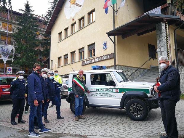 A Sauze d'Oulx un nuovo mezzo per la Polizia Locale