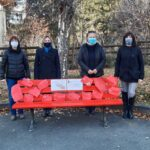 Bardonecchia, la panchina rossa