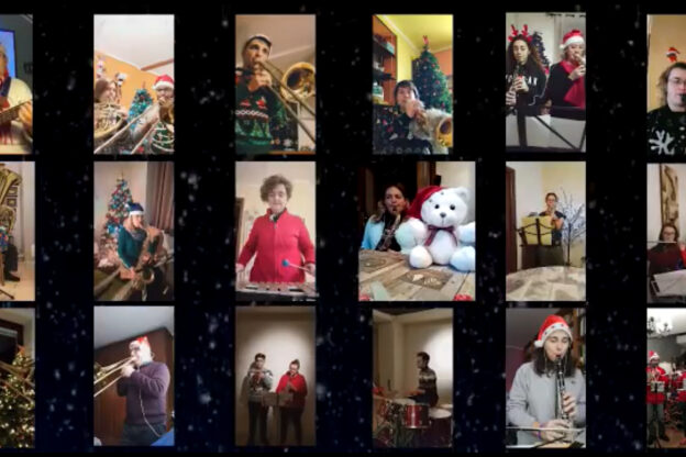 """""""Jingle Bell Rock"""" della Società Filarmonica Santa Cecilia. Il video"""