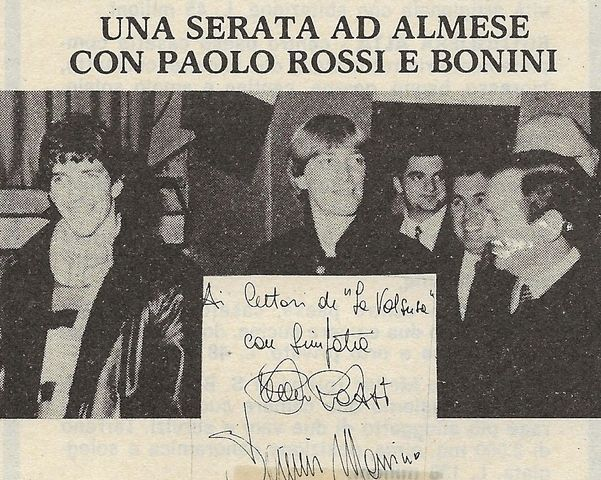 """Quella sera in cui Paolo Rossi, """"Pablito"""", venne ad Almese…"""
