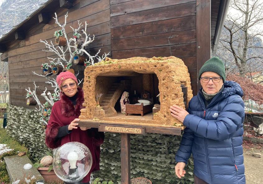 Venaus, non è Natale senza il presepe meccanico di Gino e Rosy