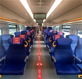 interno treno Pop - Trenitalia - SFM3