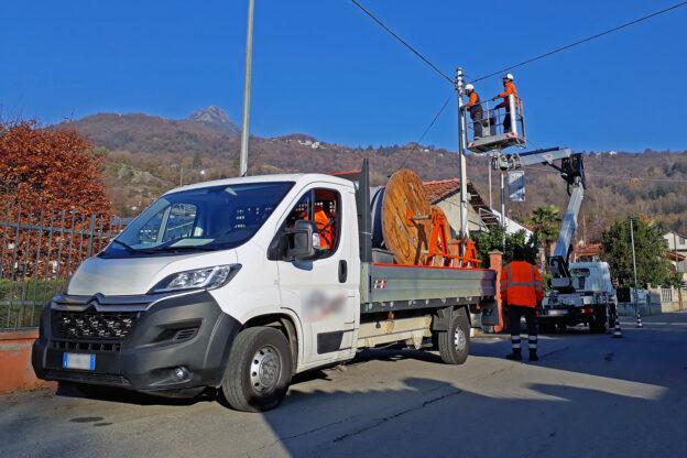 Incidente durante la posa della fibra ottica a Villar Dora