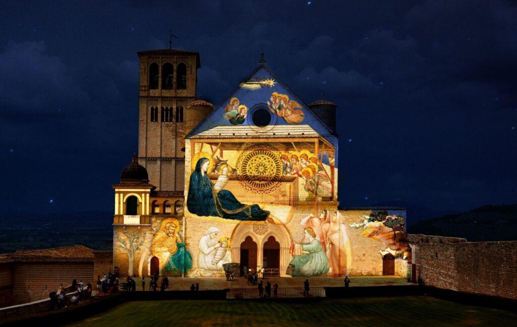 Un Giotto luminoso sulla facciata della Basilica di San Francesco ad Assisi