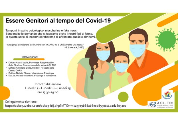 Covid e scuola: un progetto dell'Asl To3 per alunni, genitori e docenti