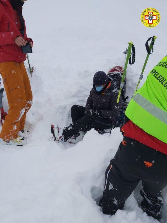 Una scialpinista cade e si ferisce in Alta Val di Susa
