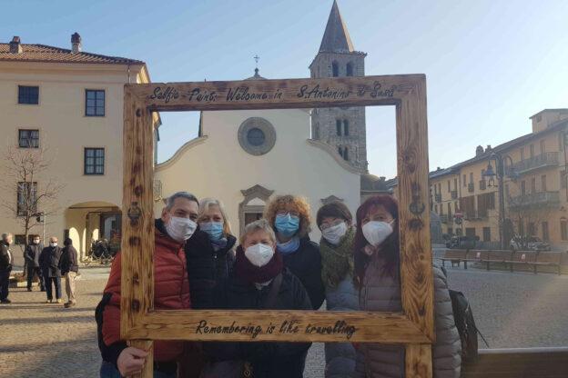 Inaugurato il nuovo selfie point a S.Antonino sulla piazza della chiesa parrocchiale