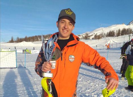 Il sogno mondiale di Kevin, da Bardonecchia a Cortina con i colori dell'Albania