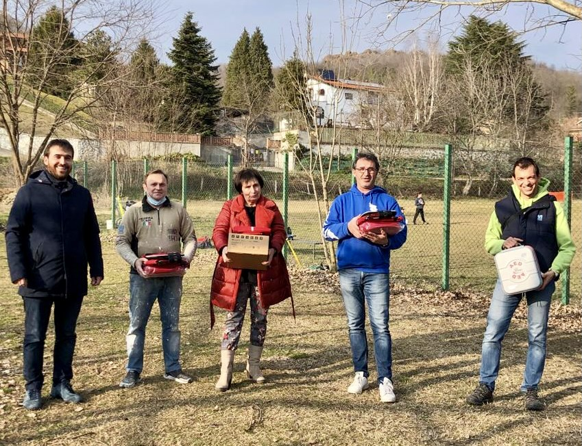 Avigliana, quattro nuovi defibrillatori per lo sport