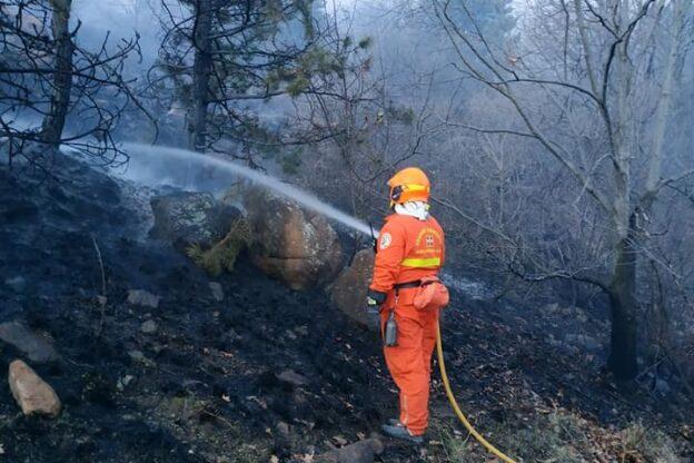 Quasi del tutto spento l'incendio sul Monte Musinè