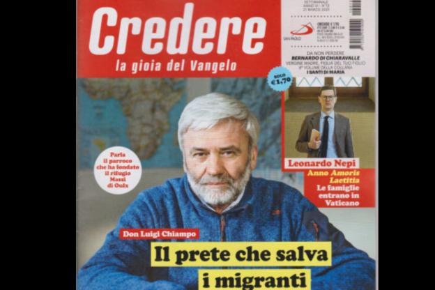 """Sulla rivista """"Credere"""" c'è don Luigi Chiampo in copertina"""