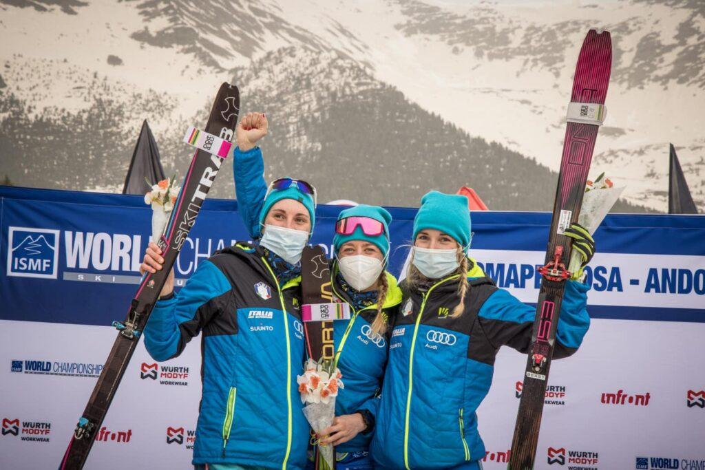 Sci: Alba De Silvestro, Mara Martini e Ilaria Veronese, campionesse del mondo