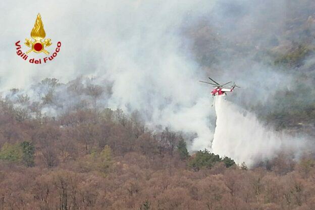 Aggiornamento sull'incendio del Musinè: più di 300 gli ettari andati in fumo